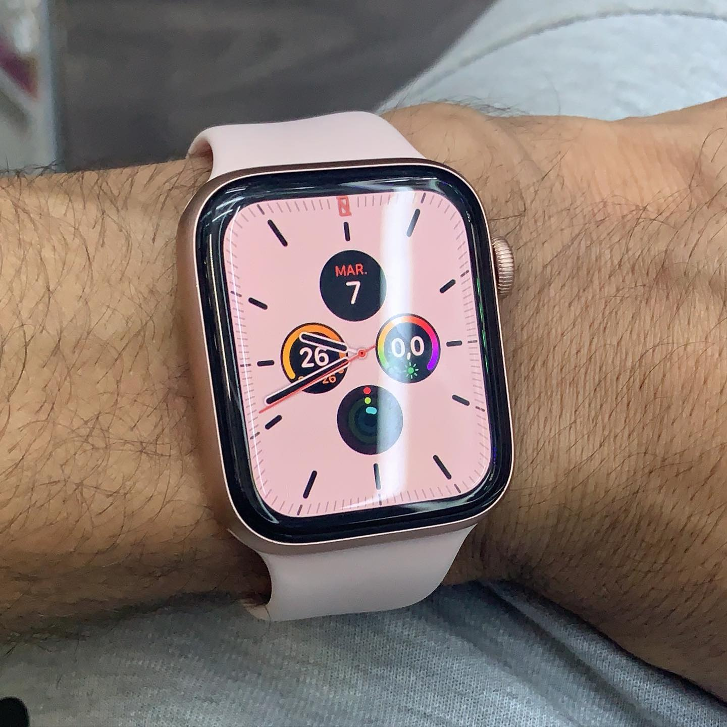 The picture of Apple Watch 5