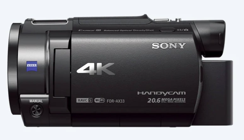 Sony FDR-AX33    Best Cameras for 4K Videography